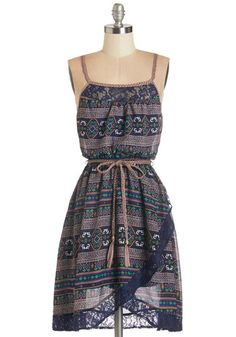 That Festive Feeling Dress. Revel in the positive mood this navy patterned dress puts you in! Casual Dresses, Fashion Dresses, Casual Outfits, Girls Dresses, Summer Dresses, Mod Dress, Dress Lace, Gray Dress, Retro Vintage Dresses