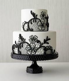 Beautiful black lace cake