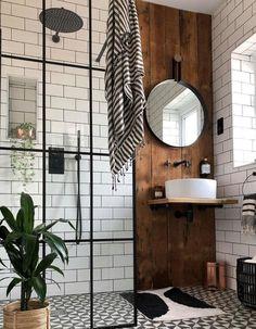Industrial Bathroom Design, Bathroom Interior Design, Modern Industrial Decor, Rustic Bathroom Designs, Industrial Interiors, Industrial Style Bedroom, Shower Designs, Urban Industrial, Industrial Living