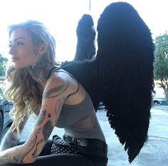 Ryan Ashley Wings Tattoos And Body Art ryan tattoo artist Sexy Tattoos, Body Art Tattoos, Girl Tattoos, Tattood Girls, Inked Girls, Ryan Ashley Tattoo, Ryan Ashley Malarkey, Piercings, Cafe Racer Girl