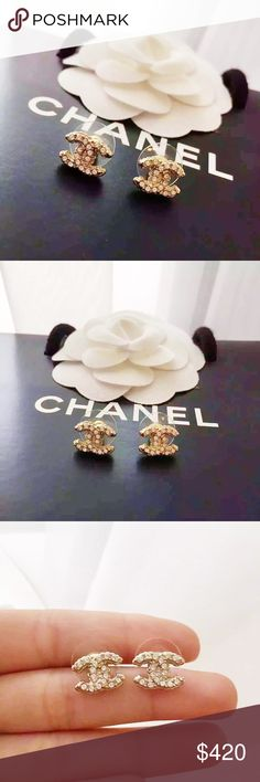 Auth Chanel Classic Small CC Crystal Earrings GHW 100% GUARANTEED AUTHENTIC!! PRISTINE LIKE NEW CONDITION! Worn 3 times! No accessories*** PHOTOS ARE TAKEN OF THE EXACT SAME ITEM YOU WILL RECEIVE! WHAT YOU SEE IS WHAT YOU GET*** PLEASE VISIT OUR WEBSITE AT WWW.AUTHENTICLUXURIESTW.COM or email me at authenticluxuries11@gmail.com for more detailed photos =). CHANEL Jewelry Earrings