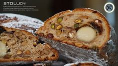 Recipe has been updated! Stollen or Christollen is one of the German greatest Christmas treat. It has a profound history, it's no wonder that there are as . Stollen Bread, Stollen Recipe, Cuisinart Food Processor, Food Processor Recipes, Sweet Recipes, Cake Recipes, Fun Recipes, Ciabatta Bread Recipe, German Bread