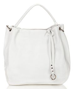 Another great find on #zulily! Bianco Leather Hobo #zulilyfinds
