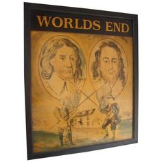 Worlds End Painted on Wood, English Pub Sign ($895) ❤ liked on Polyvore featuring home, home decor, wall art, novelty signs, signs, painted wood wall art, wooden wall art, wood signs, wood home decor and wooden signs