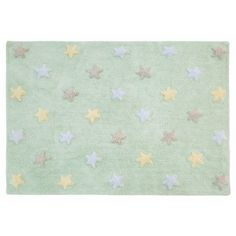 Tricolor Stars Teppich im Soft Mint Design von Lorena Canals - Babyzimmer Lorena Canals Rugs, Mint Background, Washable Area Rugs, Star Rug, Cozy Room, Star Designs, Sweet Style, Star Patterns, Soft Colors