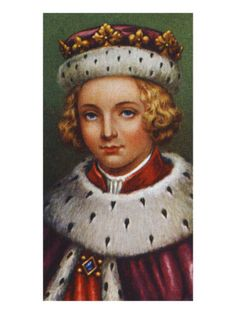 King Edward V - Assended to throne 1483 at the age of 12, never crowned. He reigned for 4 months and 23 days. Son of Edward IV, he was deposed three months after his accession in favour of his uncle (Richard III), and is traditionally believed to have been murdered (with his brother) in the Tower of London on Richard's orders.