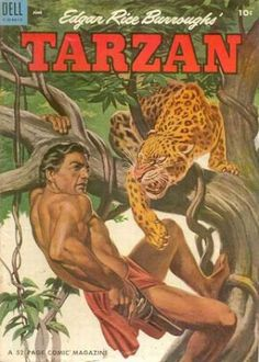 Edgar Rice Burroughs, Tarzan comic books. I wonder if I still have this one...