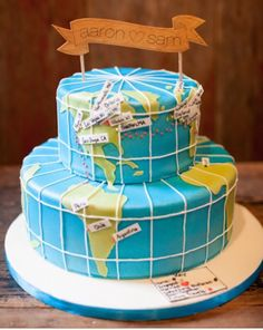 Map Cake for Mission announcement or special trip!