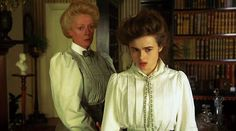 Maggie Smith and Helena Bonham Carter in A ROOM WITH A VIEW (1985). Directed by James Ivory.