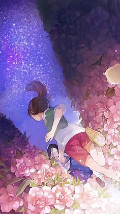 Image uploaded by Find images and videos about anime, flowers and studio ghibli on We Heart It - the app to get lost in what you love. Studio Ghibli Art, Studio Ghibli Movies, Wallpaper Animes, Animes Wallpapers, Hayao Miyazaki, Totoro, Anime Kunst, Anime Art, Manga Art