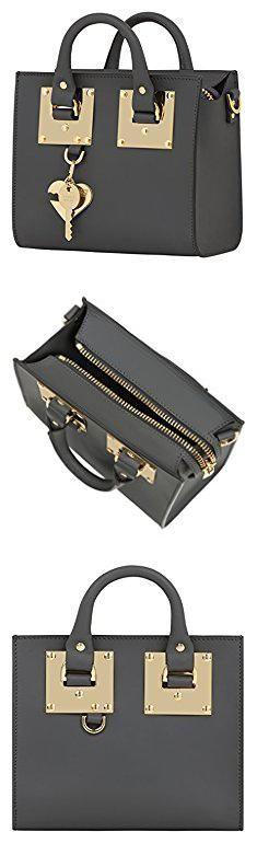Sophie Hulme Bags. Sophie Hulme Women's Bg070lecharcoal Grey Leather Handbag.  #sophie #hulme #bags #sophiehulme #hulmebags