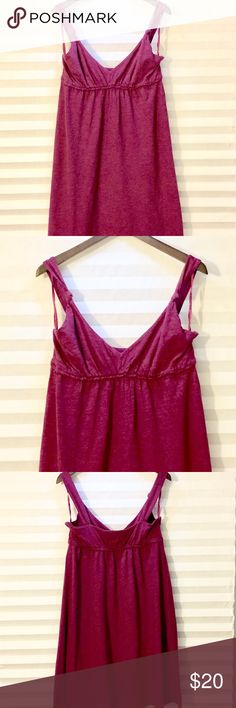 Ann Taylor Loft 🌷 Maroon Summer Dress Ann Taylor Loft 🌷 Maroon Summer Dress, Size 14, worn once. Great Condition, no defects. LOFT Dresses Midi