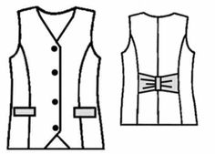 free pattern: #5016 Tailored vest (many more free patterns here: dresses, skirts, pants, coats, etc.)