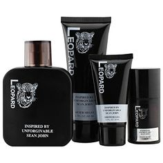 Introducing Leopard Mens 4 Piece Fragrance Gift Set Includes Eau De Toilette After Shave Shower Gel and Deodorant Inspired By Unforgivable By Sean John Cologne. Get Your Ladies Products Here and follow us for more updates!