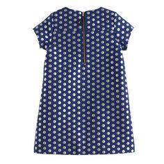 Girls' metallic polka-dot shift dress : party dresses | J.Crew