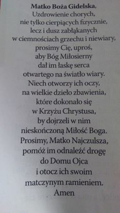 Do Matki Bożej Gidelskiej Music Humour, Prayers, Angels, God, Education, Life, Biblia, Dios, Angel
