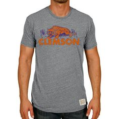 Clemson Tigers Original Retro Brand Vintage Tri-Blend T-Shirt - Heather Gray - $29.99