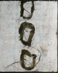 Encaustic and intaglio print