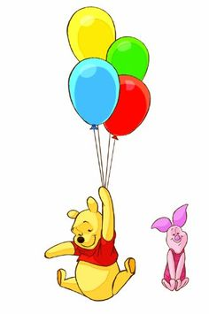 RoomMates RMK1499GM Pooh and Piglet Peel and Stick Giant Wall Decal #Ballon #Pooh #WallDecal