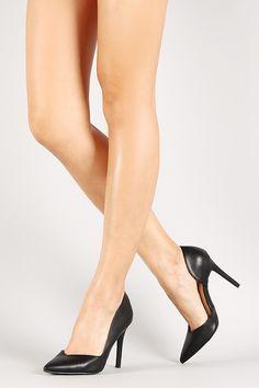 Wild Diva Lounge Leatherette Sweetheart Pointy Toe Pump