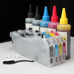 Refill kit &Extra set Ink CISS CIS LC103 LC105 LC107 for Brother Printer W/Chips