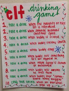 Elf Drinking Game/ Souper de Noël @anaelbeaudoin @sophieguerrette @cleveau @supermarie11