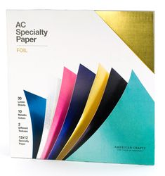 American Crafts - 12 x 12 Specialty Cardstock Pack - 30 Sheets - Foil at Scrapbook.com $20.00