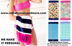 Hey, I found this really awesome Etsy listing at https://www.etsy.com/listing/263870186/monogram-beach-towels-matching-beach