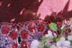100% Baby Alpaca Sjaal  Khuyaq Rode wijn, handgemaakt uit Peru