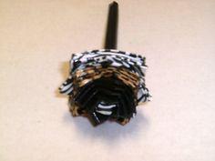 Black/Cheetah/Zebra Duct Tape Flower Pen by FlowerPensAndMore, $6.99