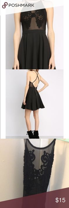 Skater dress Black skater dress, never worn, tags still attached! Papaya Dresses Mini