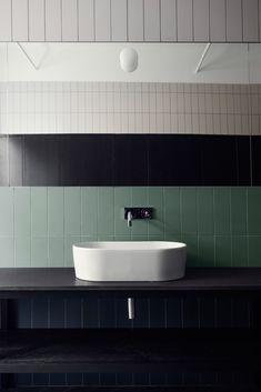 Stockholm's Alma creative space by Tham & Videgård is filled with custom furniture bathroom interior decoration design inspiration photography styling White Bathroom, Modern Bathroom, Small Bathroom, Serene Bathroom, Ikea Bathroom, Bathroom Vanities, Bad Inspiration, Bathroom Inspiration, Bathroom Interior Design