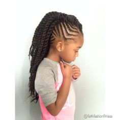 Cornrows with Marley twists Natural hairstyles Kids natural hairstyles