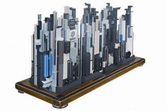 Recycled Computer Parts Employed to Replicate Famous City Skylines – Pin's Page Computer Parts And Components, Computer Chip, Old Computers, Gifts For Photographers, Practical Gifts, Seo Company, Recycled Art, City Skylines, Skyscraper