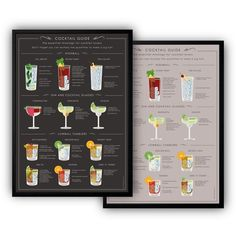 Kitchen Posters, Kitchen Prints, Kitchen Wall Art, Cocktail Drinks, Cocktail Recipes, Most Popular Cocktails, Wall Bar, Drink Menu, High Quality Wallpapers