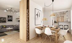 Dom pod Warszawą 160 m2 - Mała otwarta jadalnia w kuchni, styl skandynawski - zdjęcie od Grafika i Projekt architektura wnętrz