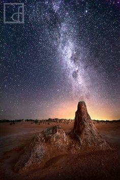 The Pinnacles, Nambung National Park, Australia; photo by Dylan Fox