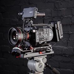 Canon CN-E lens with monster Sony FS7 rig here by @cloakroom_media by film.rev