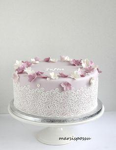 Korea Cake, Fondant Flowers, Cute Cakes, Cake Designs, Cake Decorating, Baby Shower, Bride, Baking, Cake Ideas
