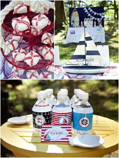 PARTY BLOG by BirdsParty|Printables|Parties|DIYCrafts|Recipes|Ideas: Cool Customers: Nautical Birthday Party!