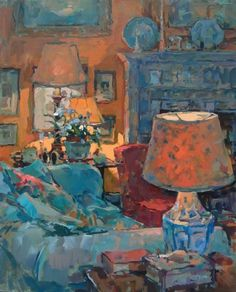 'Study in Yellow and Blue' Susan Ryder (British painter b.1944)  ~Via Linda Carpenter