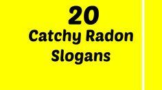 Radon Slogans