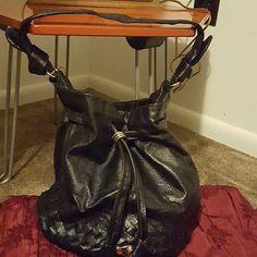 Elliot Lucca Black Leather Handbag