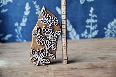 Textile Handmade Ethnic Crafts Pottery Cards Print Making Gift Idea. Paisley Ornament Pattern Wooden Stamp For Block Printing Leather
