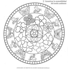 coloring mandalas fruit Mandala coloring page with puppies Free