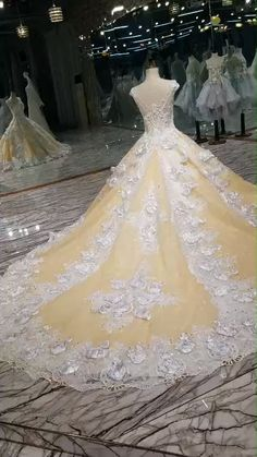 Buy Floral Wedding Dresses Lace Up With Appliques And Crystals Scoop Neck A-Line online Party Wear Dresses, Wedding Party Dresses, Bridal Dresses, Bridesmaid Dresses, Prom Dresses, Bridal Outfits, Long Dresses, Elegant Dresses, Princess Wedding Dresses