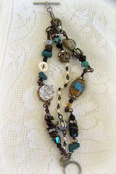 Wire Wrapped Gypsy Bracelet~
