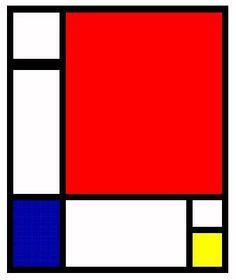 Inspiración | De Stijl: Piet Mondrian Bloques de color plenos, líneas puras