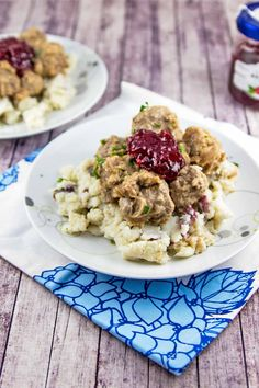 Swedish Meatballs: The ultimate comfort food.  Homemade meatballs with thick gravy and lingonberry jam, served over egg noodles or mashed potatoes. {Bunsen Burner Bakery}