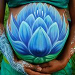 belly painting lotus